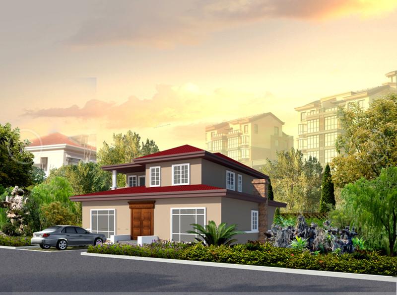 二层270平方轻钢别墅户型图