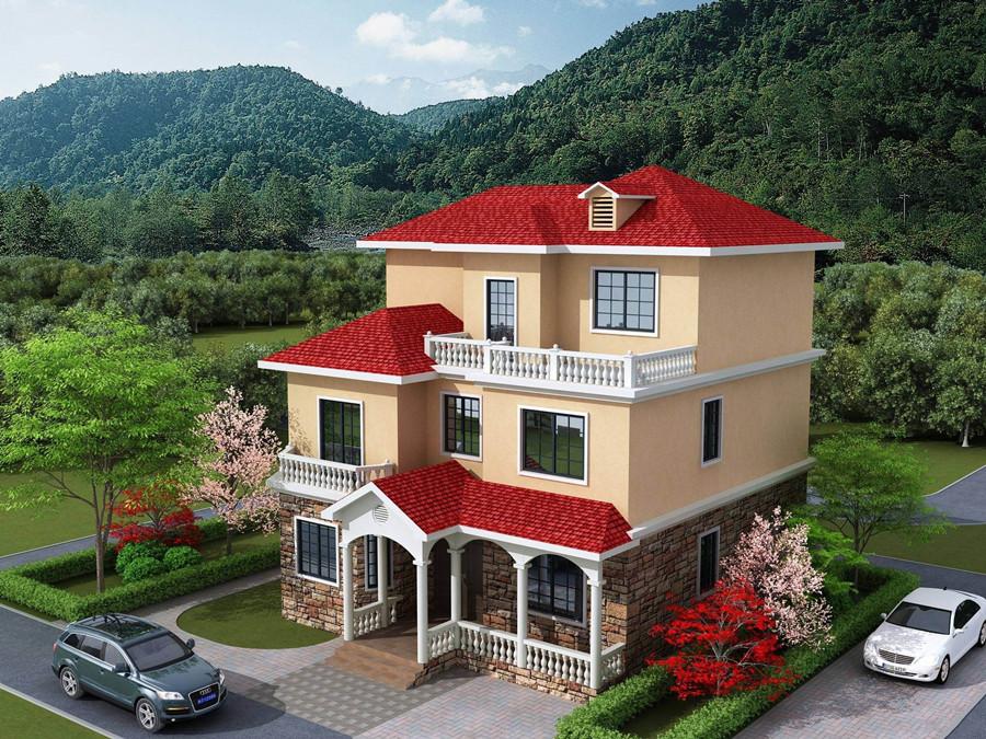 三层340平米轻钢别墅户型图