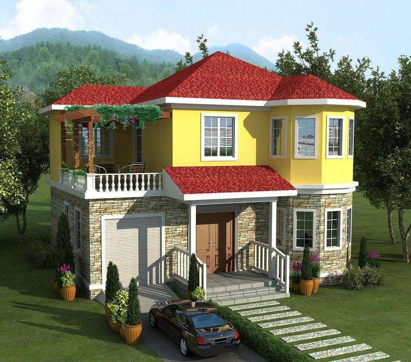 二层190平米轻钢别墅户型图