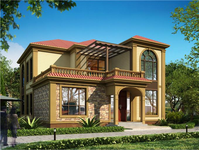 二层230平米轻钢别墅户型图