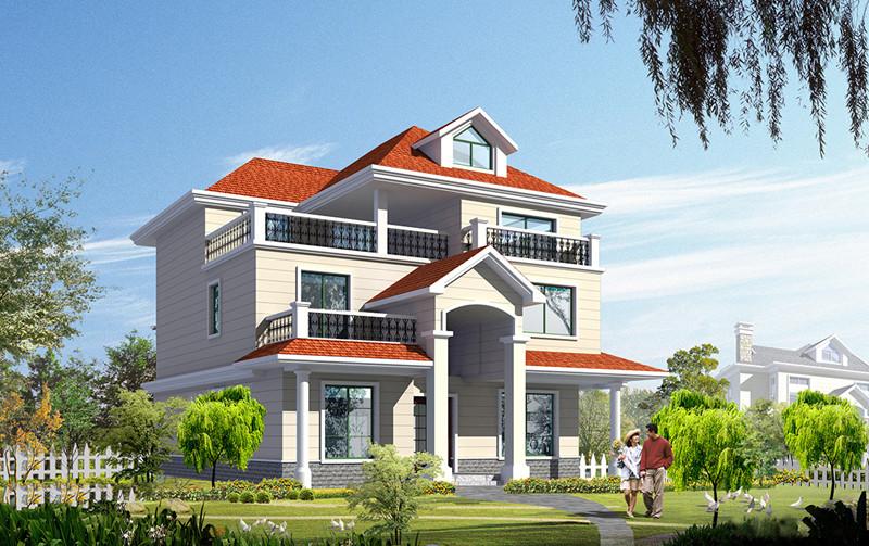 三层360平米轻钢别墅户型图