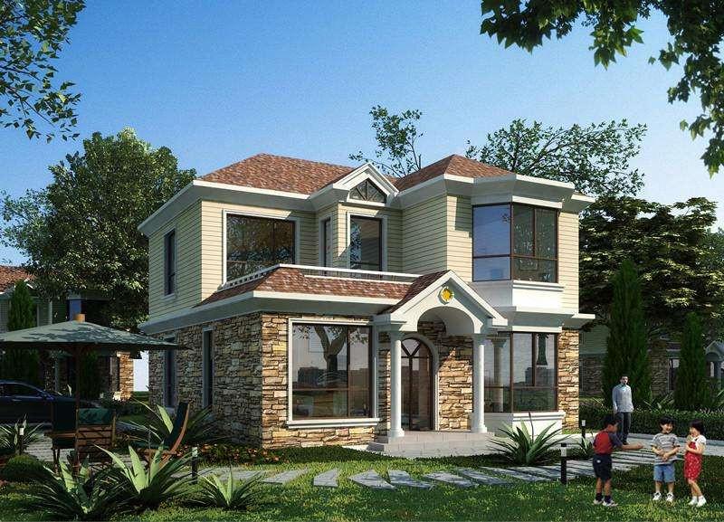 二层240平米轻钢别墅户型图