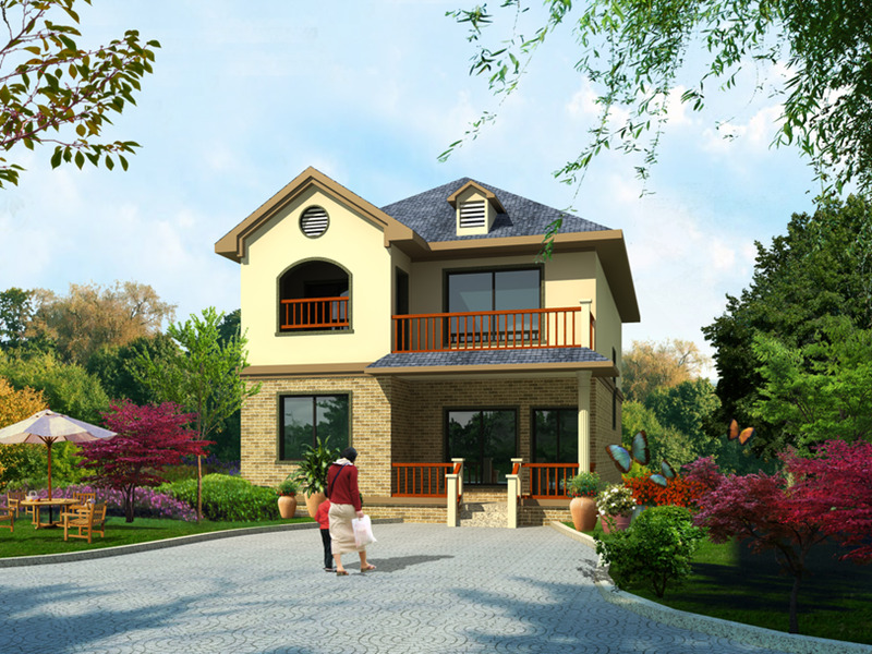 二层120平米轻钢别墅户型图