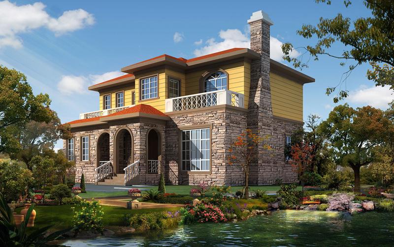 二层280平米轻钢别墅户型图
