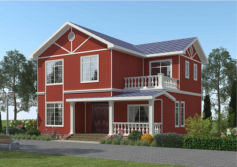 二层180平米轻钢别墅户型图