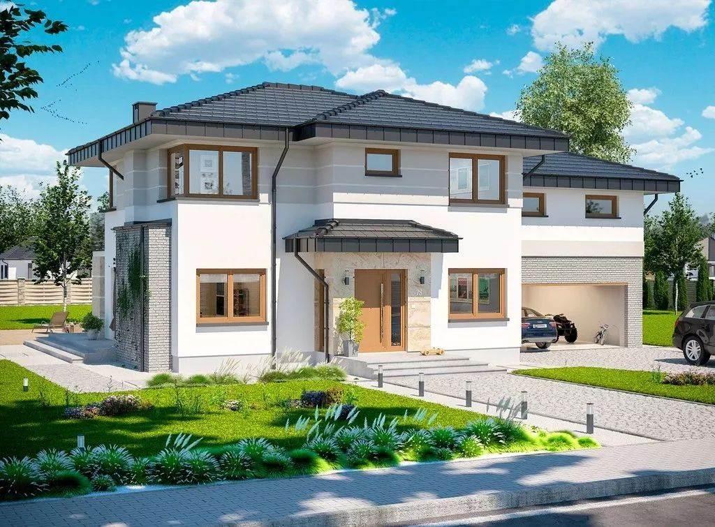 二层290平米轻钢别墅户型图