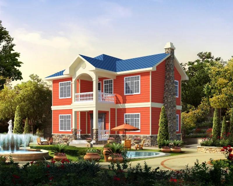 二层200平方轻钢别墅户型图