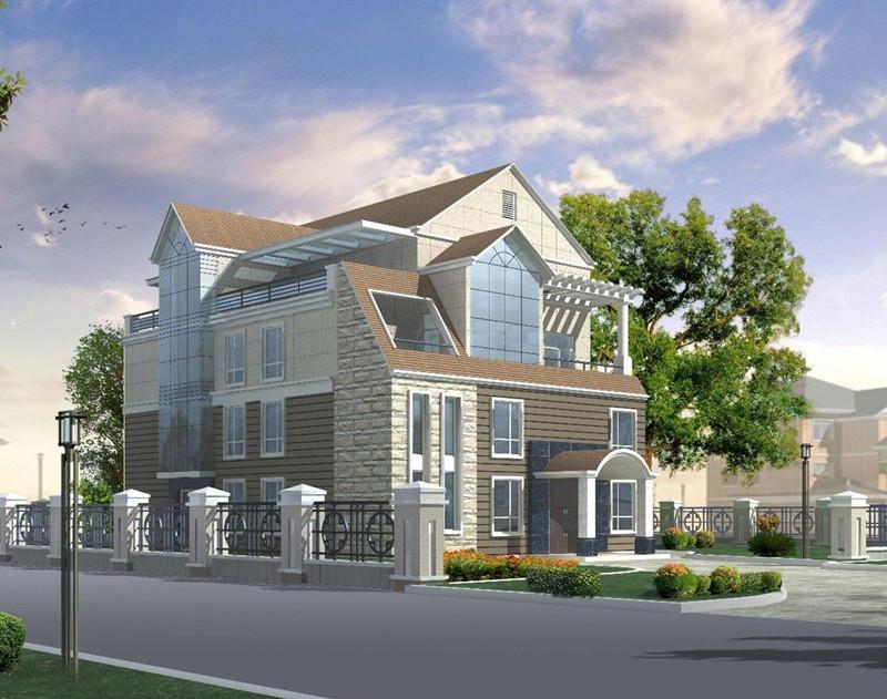 三层450平方轻钢别墅户型图