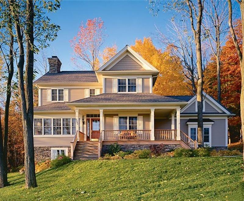 二层260平方美式轻钢别墅户型图
