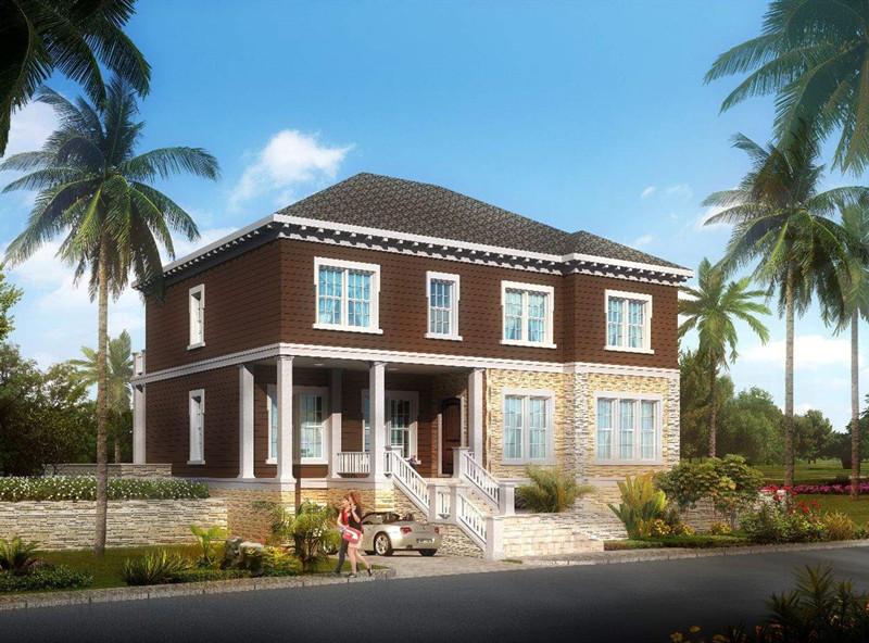 二层300平方美式轻钢别墅户型图