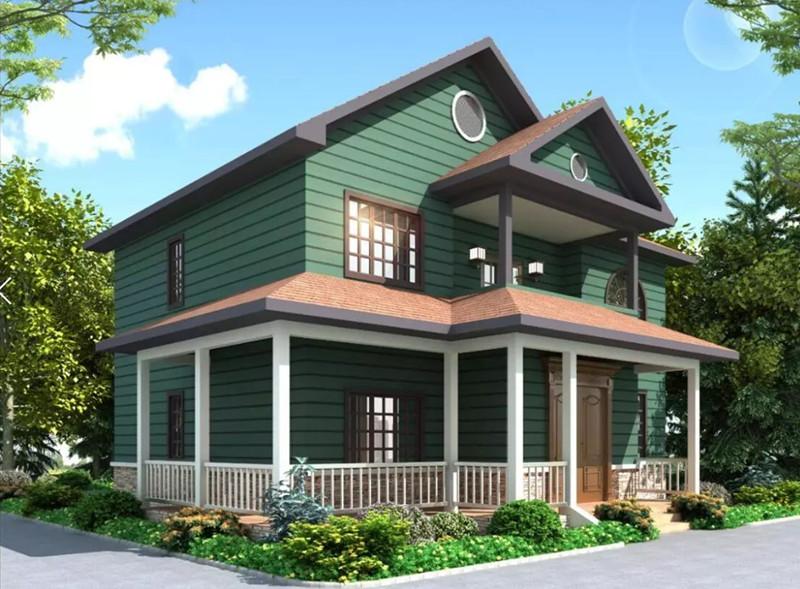 二层190平方轻钢别墅户型图
