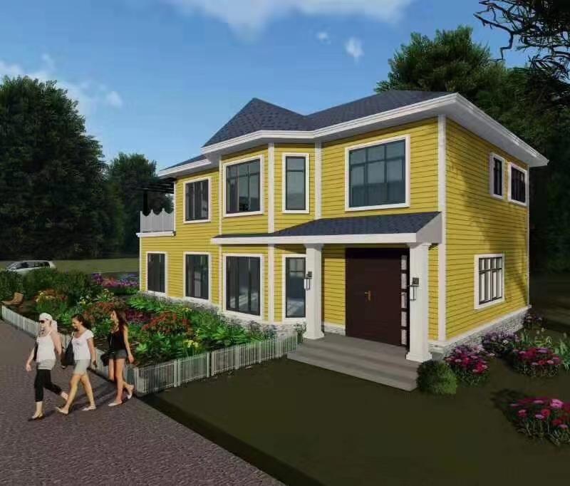 二层310平方轻钢别墅户型图