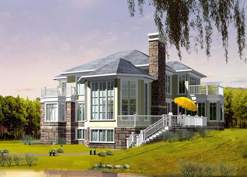 二层340平方轻钢别墅户型图