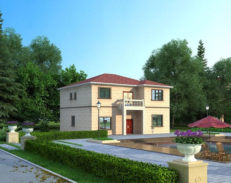 二层190平方中式轻钢别墅户型图