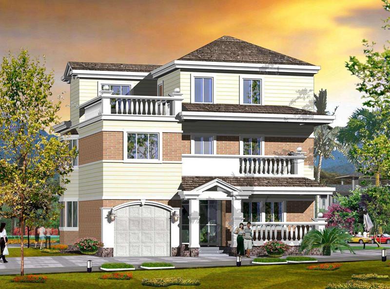 三层400平方轻钢别墅户型图