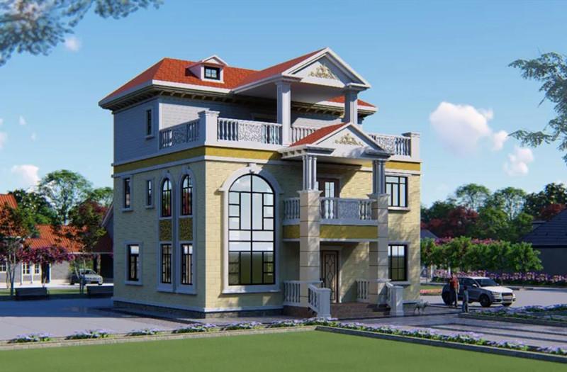 三层280平米轻钢别墅户型图