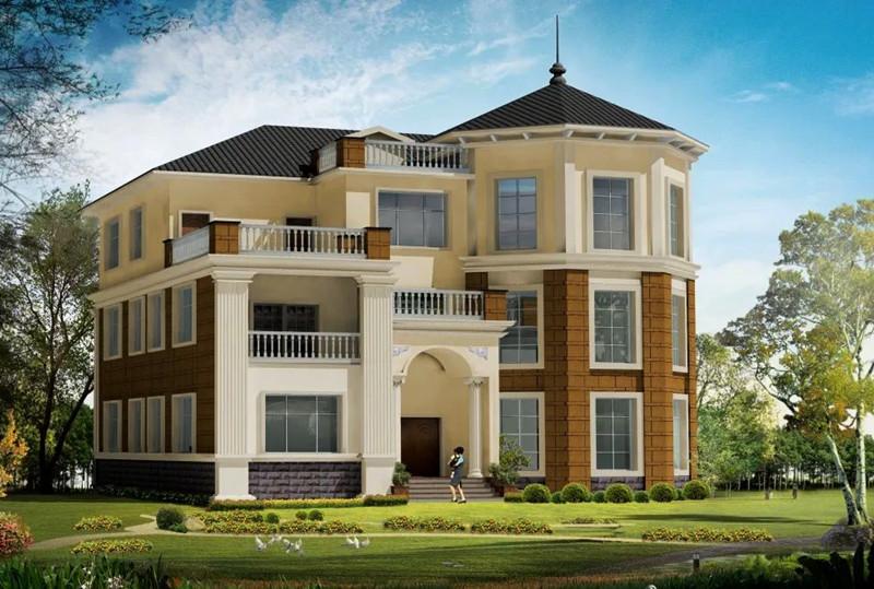 三层440平方轻钢别墅户型图
