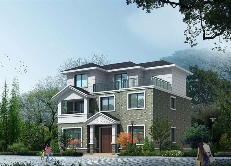 三层290平方轻钢别墅户型图