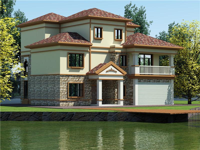 三层350平方轻钢别墅户型图