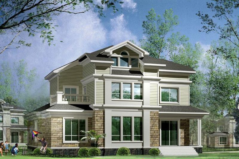 二层235平米轻钢别墅户型图